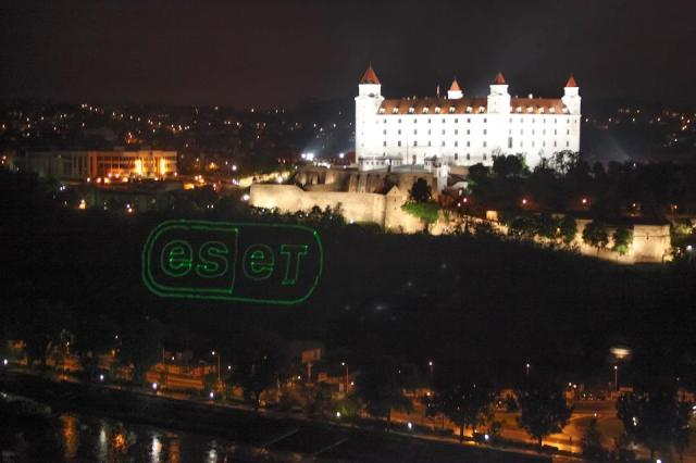 View of ESET's 20th anniversary celebration from the deck of the UFO